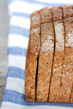 Slices of organic dark rye bread Stock Images