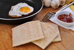 Slices organic irish potato bread Stock Images