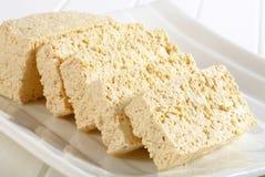 Slices of organic tofu Stock Image