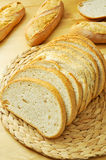 Slices of pan de payes, a round bread typical of Catalonia, Spai Royalty Free Stock Photos