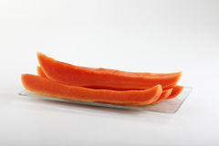 Slices of papaya Royalty Free Stock Images