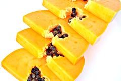 Slices of papaya Stock Images