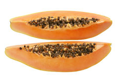 Slices of Papaya Stock Photos