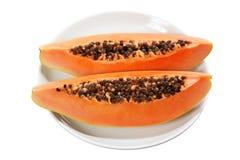 Slices of Papaya Stock Photography