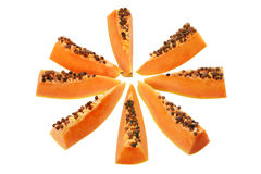 Slices of Papaya Royalty Free Stock Photography