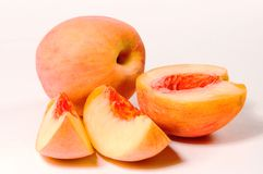 Slices of peach Royalty Free Stock Photos