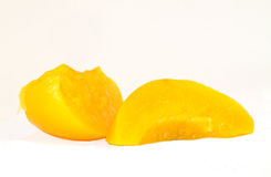 Slices of peach Royalty Free Stock Image