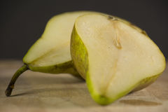 Slices of pear royalty free stock images