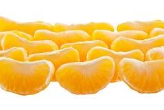 Slices of peeled orange Stock Photography