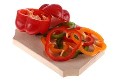 Slices of pepper Royalty Free Stock Photo