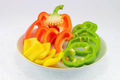 Slices of pepper Royalty Free Stock Image