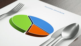 Slices of the pie. Concept royalty free stock images