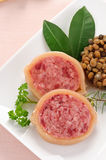 Slices of pig\'s trotter with lentils Royalty Free Stock Image