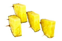 Slices of pineapple. Fresh slice pineapple on white background Stock Photo
