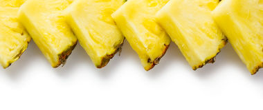 Slices of pineapple royalty free stock photo