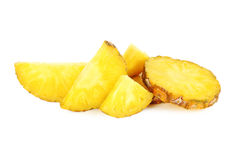 Slices of pineapple. Isolated on a white Stock Photography