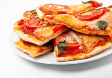 Slices of pizza margharita royalty free stock images