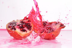 Slices of  pomegranate Stock Image