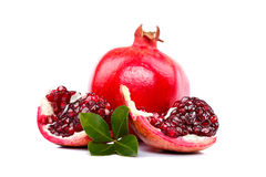 Slices of pomegranate Stock Photos