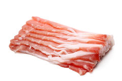 Slices of pork bacon Stock Photos