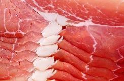 Slices of pork ham. Stock Image