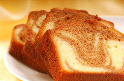 Slices of pound cake Royalty Free Stock Photography