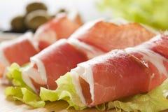 Slices of prosciutto Stock Image