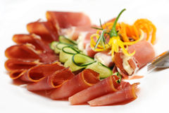 Slices of prosciutto Royalty Free Stock Photography