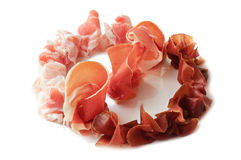 Slices of prosciutto Royalty Free Stock Photo