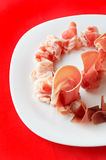 Slices of prosciutto Royalty Free Stock Image