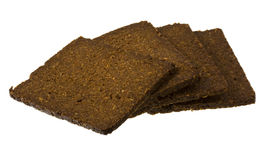 Slices of pumpernickel bread Royalty Free Stock Image