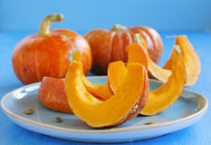 Slices of pumpkin Stock Photography