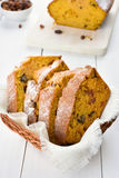 Slices of pumpkin bread Stock Photography
