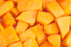 Slices of pumpkin close up Royalty Free Stock Images