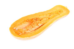 Slices of pumpkin close up isolation in white Royalty Free Stock Photos
