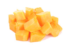 Slices of pumpkin, isolated on white Royalty Free Stock Photography