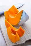Slices of pumpkin Royalty Free Stock Images