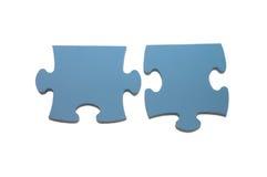 Slices of puzzle. Isolated on white background Stock Image