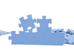 Slices of puzzle Stock Images