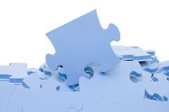 Slices of puzzle Stock Photo