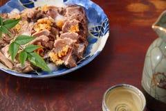 Slices of raw bonito Royalty Free Stock Photos