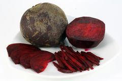 Slices of a real red beet Stock Photos