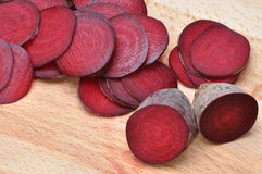 Slices of red beet Royalty Free Stock Image