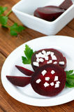 Slices of red beet Royalty Free Stock Photos