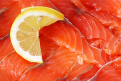 Slices of red fish Stock Photo