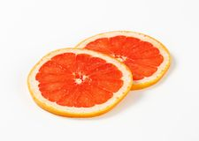 Slices of red grapefruit Royalty Free Stock Images