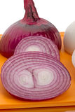 Slices of red onion Stock Photo