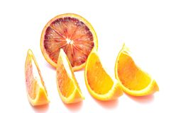 Slices of red oranges Royalty Free Stock Image
