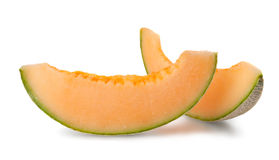 Slices of ripe cantaloupe melon Royalty Free Stock Images