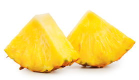 Slices of ripe juicy pineapple Stock Photos